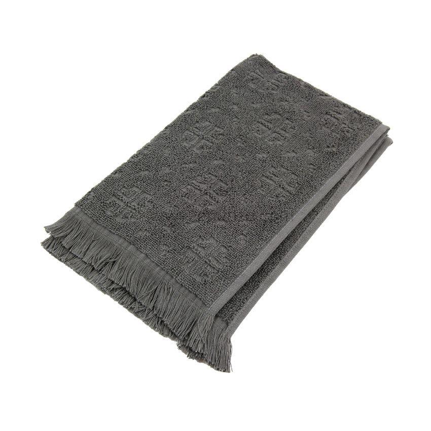 serviette de bain 50 x 90 cm cisele anthracite serviette de bain eminza. Black Bedroom Furniture Sets. Home Design Ideas