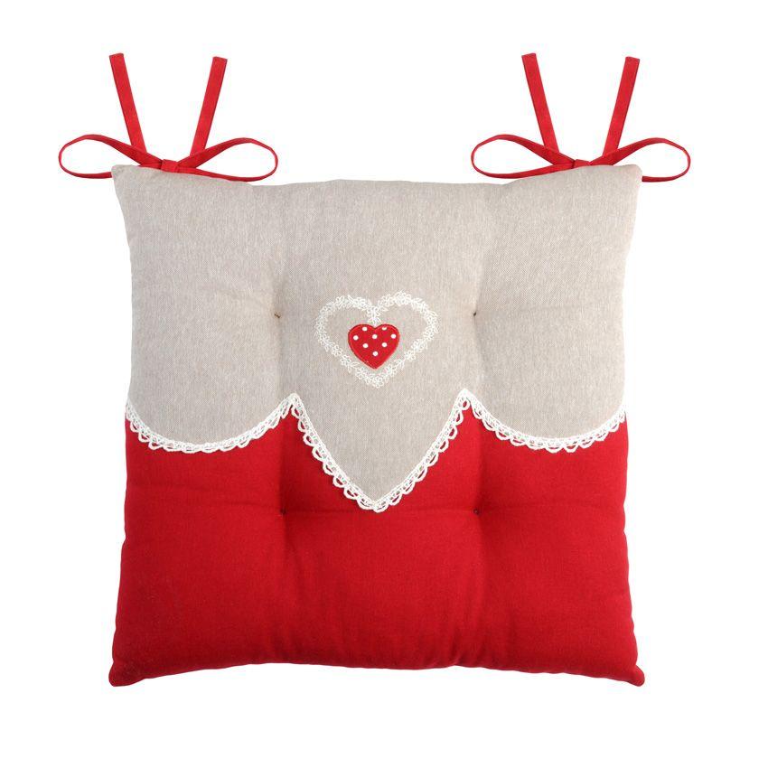 coussin de chaise verone rouge galette et coussin de chaise eminza. Black Bedroom Furniture Sets. Home Design Ideas
