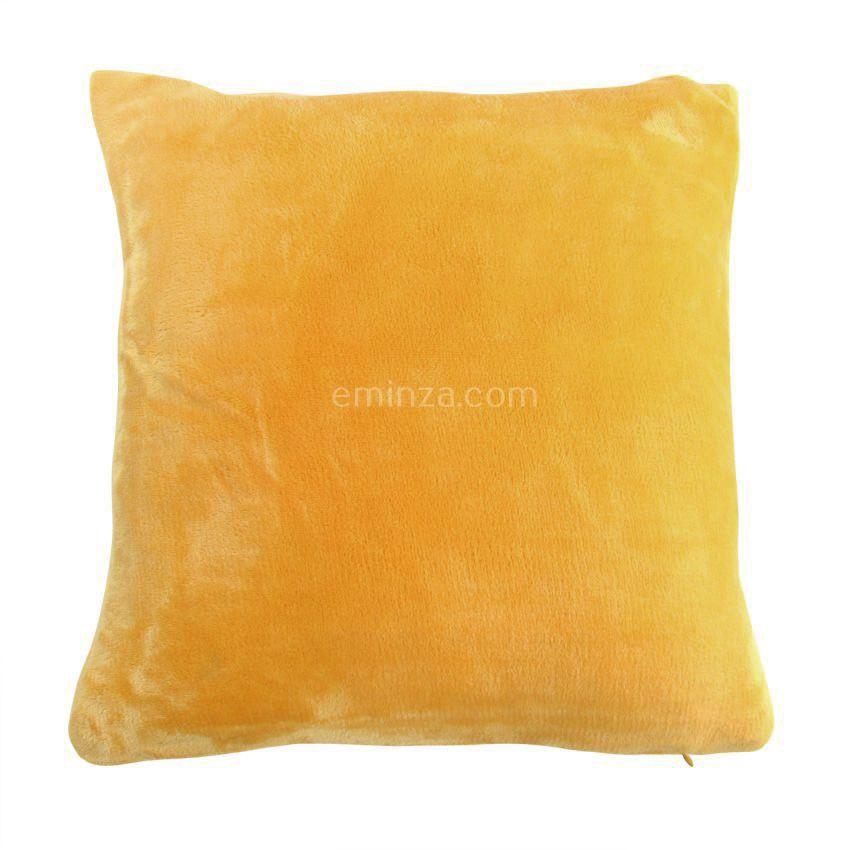 housse de coussin 60 cm doudou jaune coussin et housse de coussin eminza. Black Bedroom Furniture Sets. Home Design Ideas
