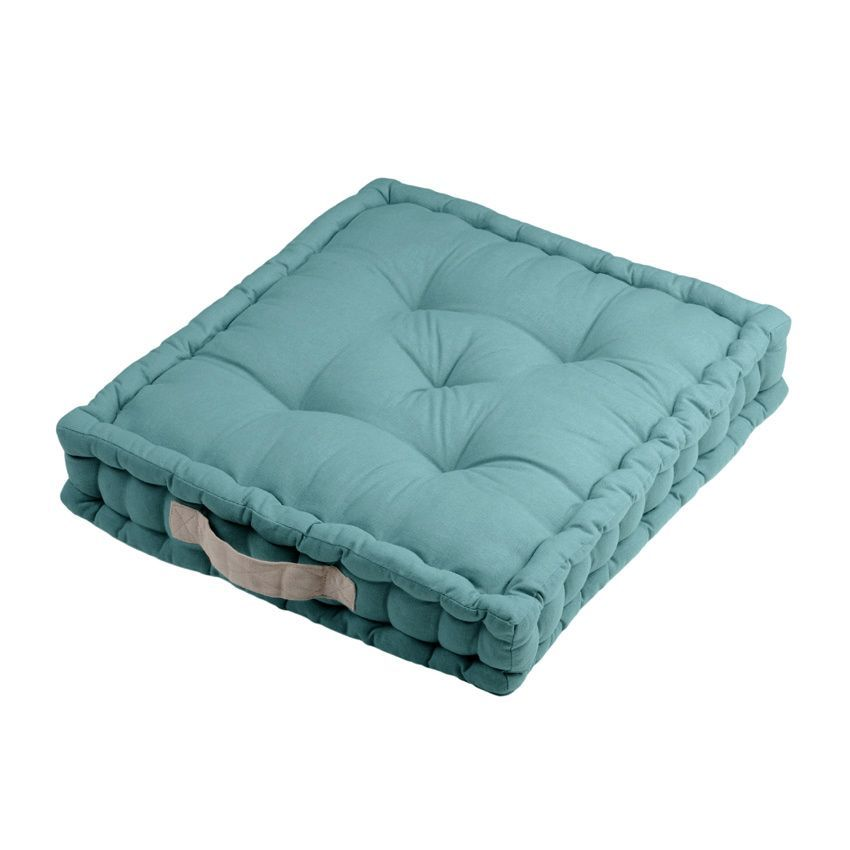 coussin de sol duo bleu coussin de sol et pouf eminza. Black Bedroom Furniture Sets. Home Design Ideas