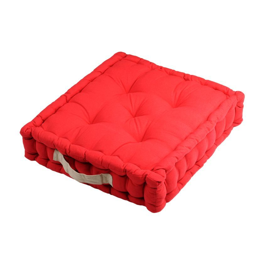 coussin de sol duo rouge coussin de sol et pouf eminza. Black Bedroom Furniture Sets. Home Design Ideas