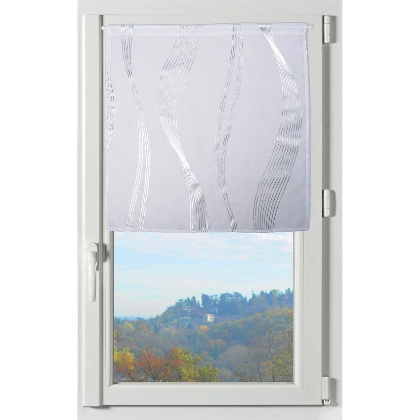 Paire de voilage 60 x h120 cm essaouira blanc voilage - Paire de voilage ...