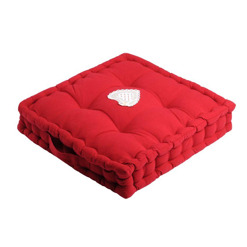 coussin de sol verone rouge coussin de sol et pouf eminza. Black Bedroom Furniture Sets. Home Design Ideas