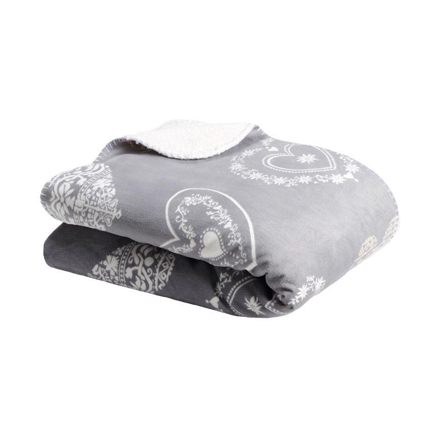 plaid polaire supeyres gris plaid douceur eminza. Black Bedroom Furniture Sets. Home Design Ideas