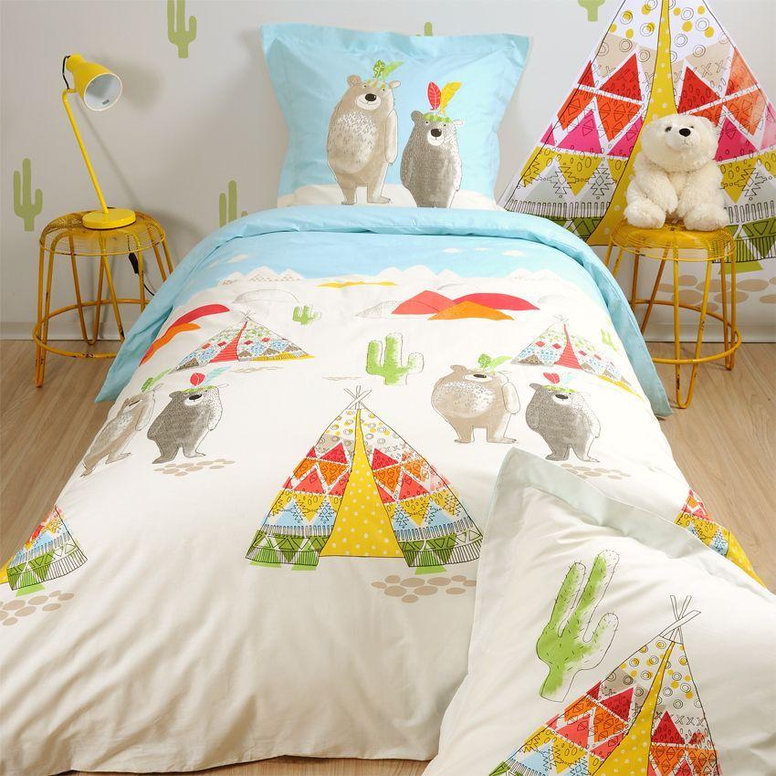 housse de couette et une taie 140 cm tipi housse de couette eminza. Black Bedroom Furniture Sets. Home Design Ideas