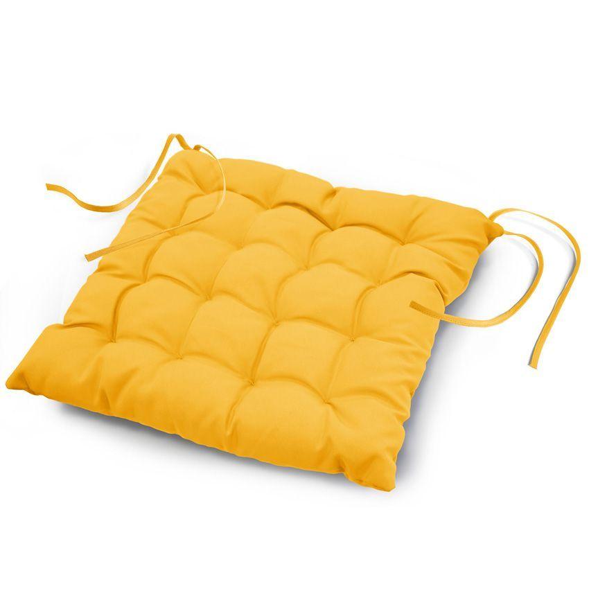 Coussin de chaise essentiel jaune galette et coussin de - Casa coussin de chaise ...