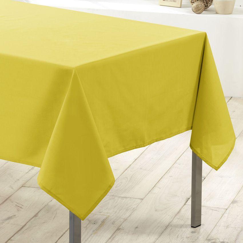 Nappe rectangulaire l250 cm essentiel vert nappe de - Nappe de table rectangulaire ...