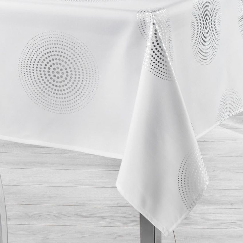 nappe rectangulaire l300 cm atome blanc nappe de table. Black Bedroom Furniture Sets. Home Design Ideas