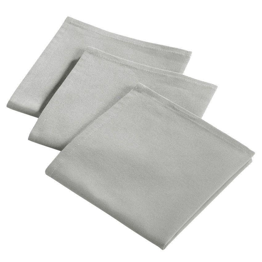 lot de 3 serviettes id ale gris serviette de table eminza. Black Bedroom Furniture Sets. Home Design Ideas