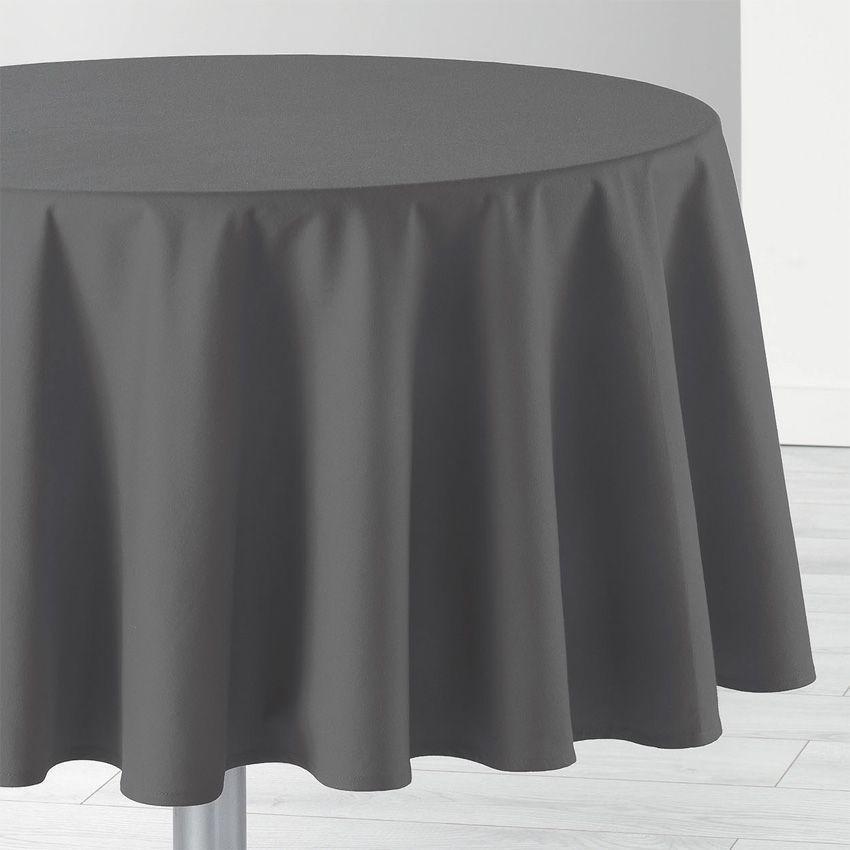 nappe ronde d 170 cm id ale gris anthracite nappe de table eminza. Black Bedroom Furniture Sets. Home Design Ideas