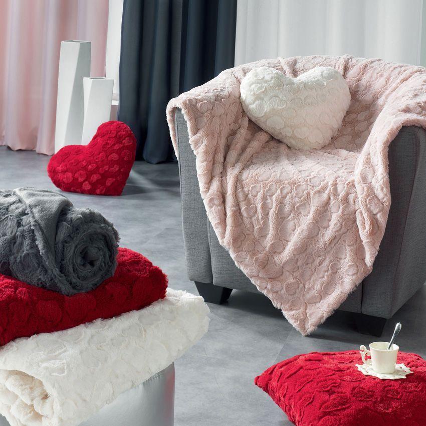 plaid doux 152 cm c urs rose plaid cocooning eminza. Black Bedroom Furniture Sets. Home Design Ideas