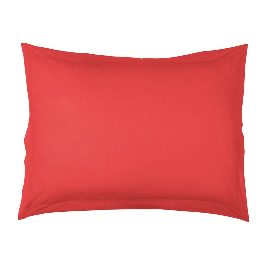 taie d 39 oreiller rectangulaire lina uni corail taie d 39 oreiller traversin eminza. Black Bedroom Furniture Sets. Home Design Ideas