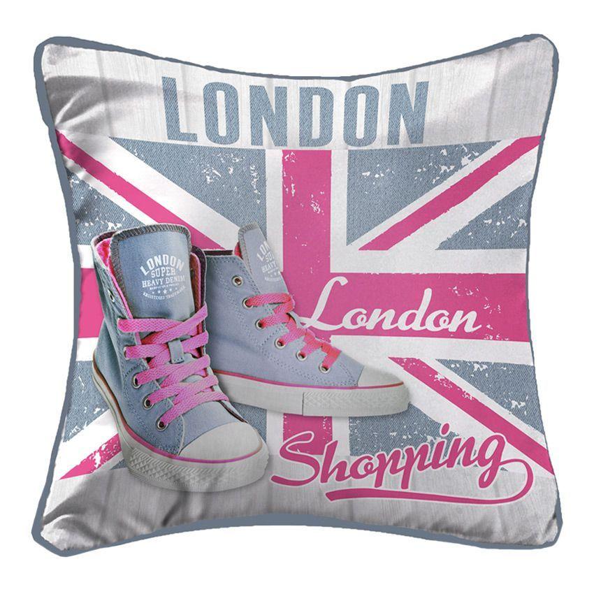coussin girly london coussin et housse de coussin eminza. Black Bedroom Furniture Sets. Home Design Ideas