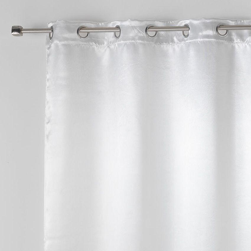 rideau occultant 140 x h260 cm satina blanc rideau. Black Bedroom Furniture Sets. Home Design Ideas