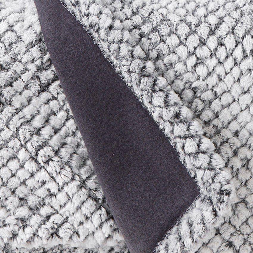 Plaid doux 150 cm yuma gris plaid cocooning eminza for Linge de maison amadeus