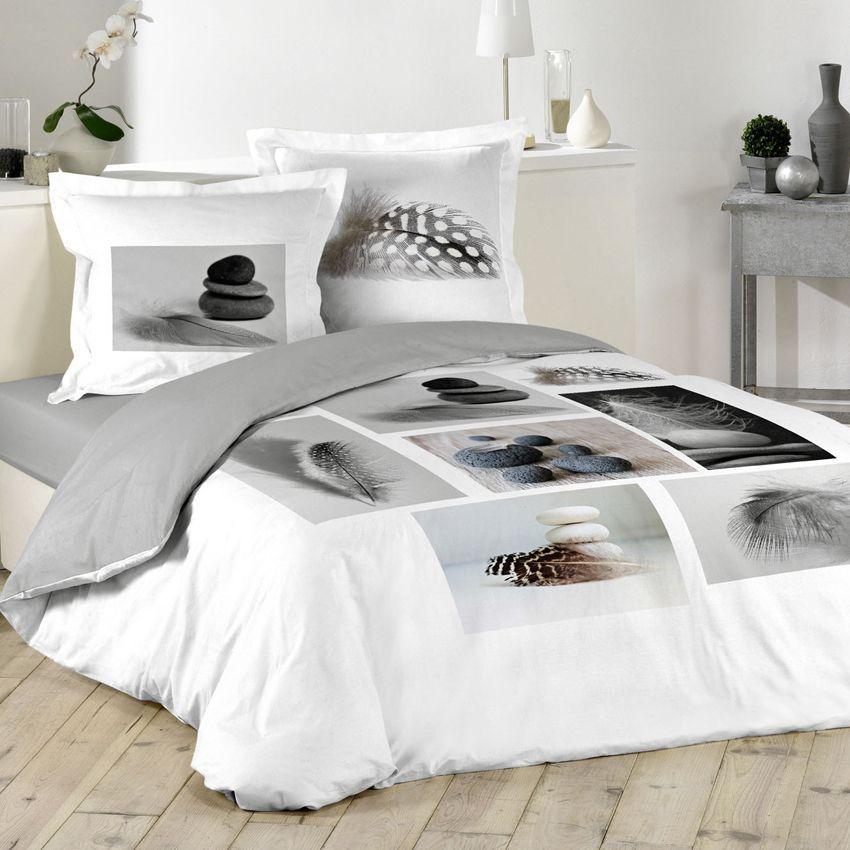 housse de couette et deux taies cm plume zen with housse bz zen. Black Bedroom Furniture Sets. Home Design Ideas