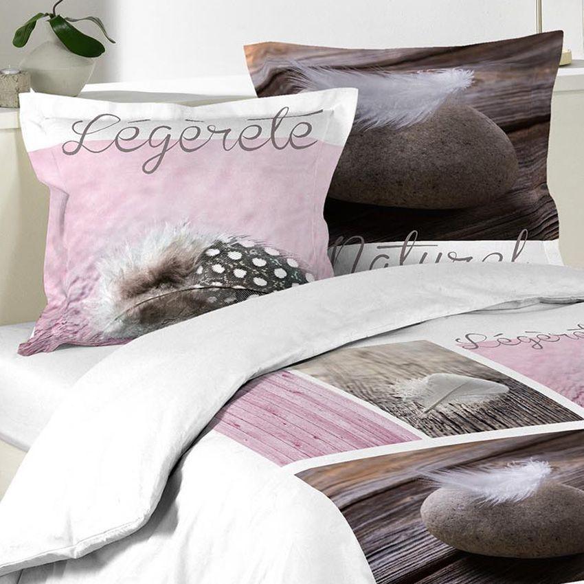 housse de couette et deux taies 260 cm plume l g re rose housse de couette eminza. Black Bedroom Furniture Sets. Home Design Ideas