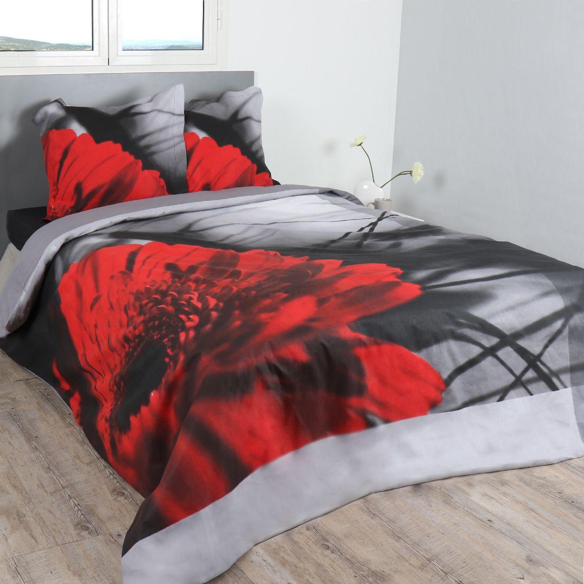 housse de couette et deux taies 240 cm pivoina housse de couette eminza. Black Bedroom Furniture Sets. Home Design Ideas