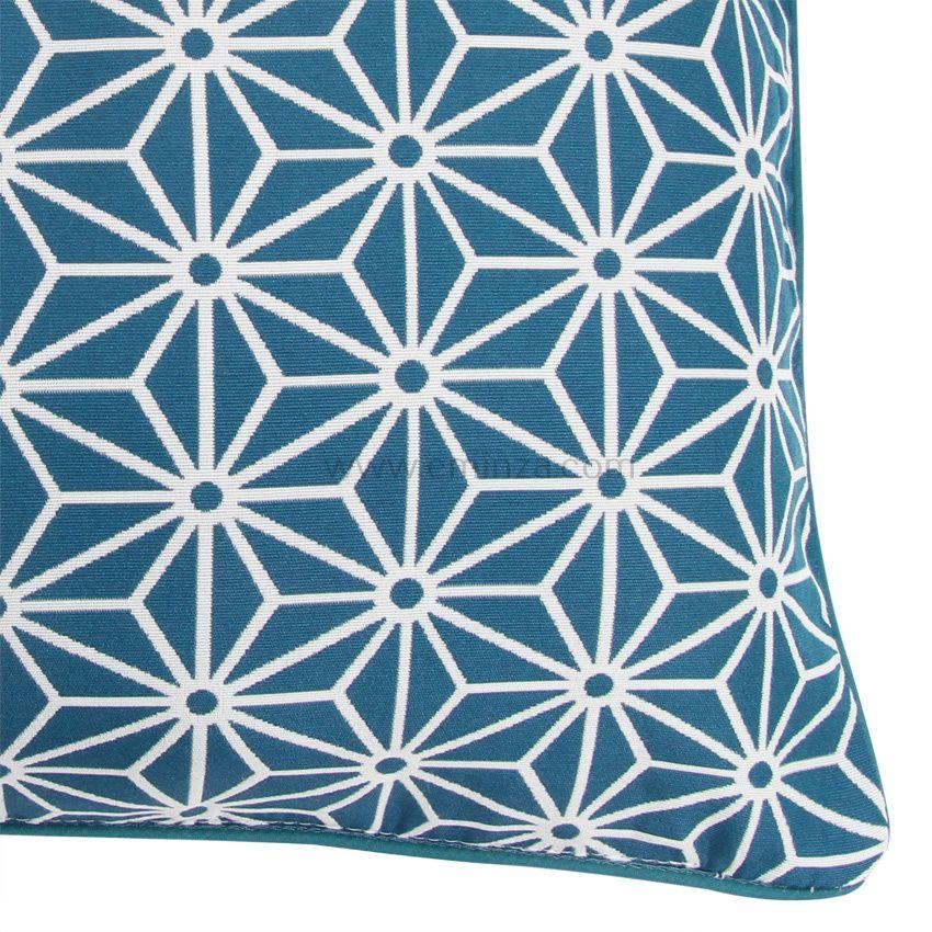 Housse de coussin cristal bleu housse de coussin eminza for Housse de coussin bleu