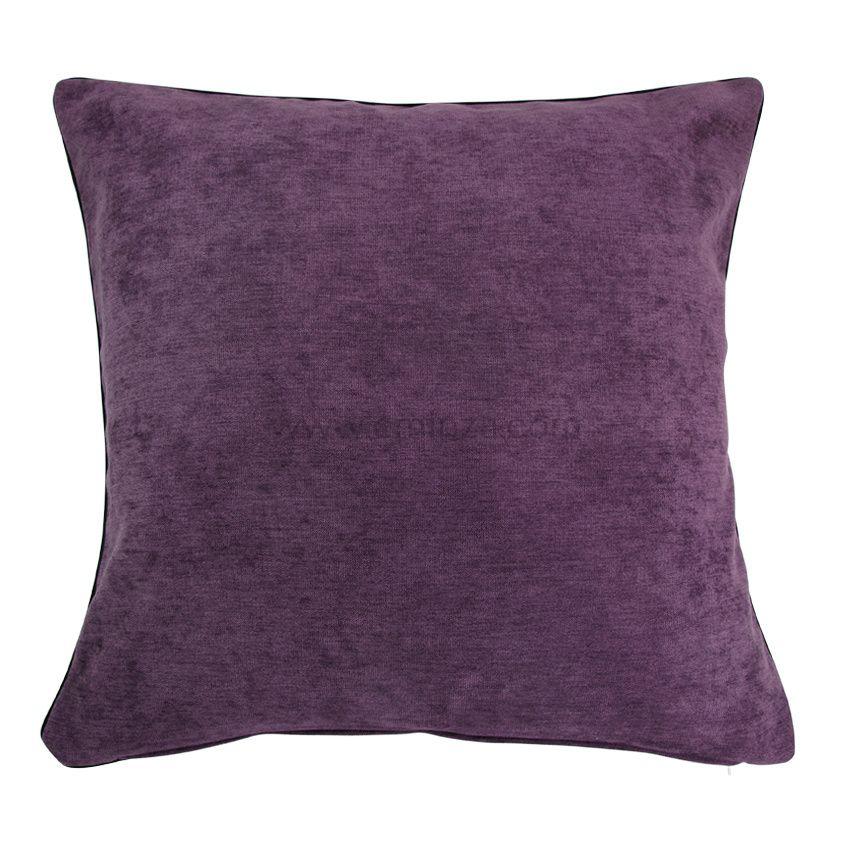 Housse de coussin alaska violet housse de coussin eminza - Housse de coussin violet ...