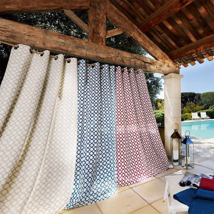 rideau tamisant 140 x h240 cm bellagio bordeaux rideau tamisant eminza. Black Bedroom Furniture Sets. Home Design Ideas