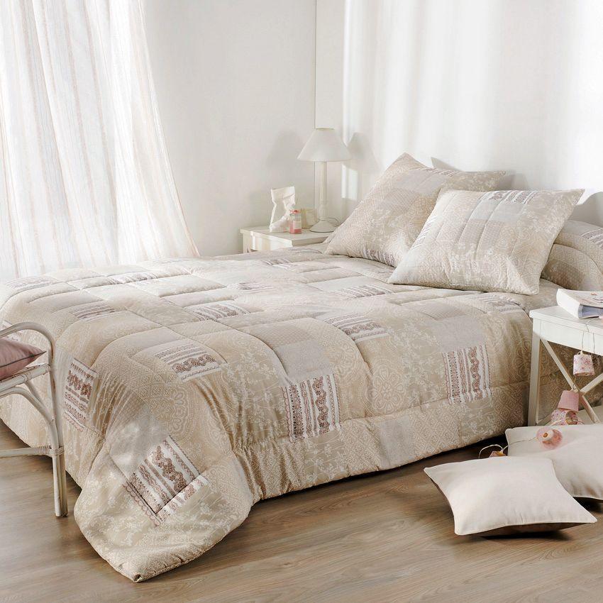 boutis et taies d 39 oreiller 230 x 250 cm bergamote beige couvre lit boutis eminza. Black Bedroom Furniture Sets. Home Design Ideas