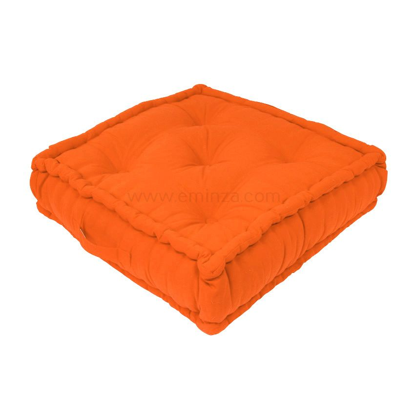 grand coussin de sol 60 cm etna orange coussin de sol. Black Bedroom Furniture Sets. Home Design Ideas
