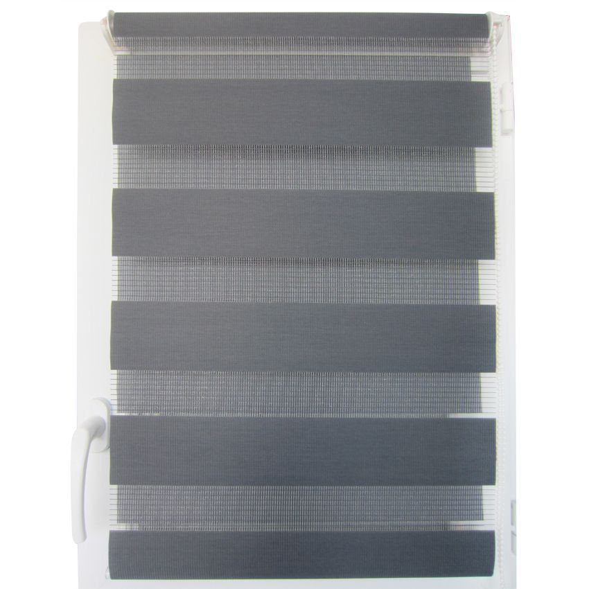 store enrouleur jour nuit 90 x h180 cm gris anthracite store jour nuit eminza. Black Bedroom Furniture Sets. Home Design Ideas