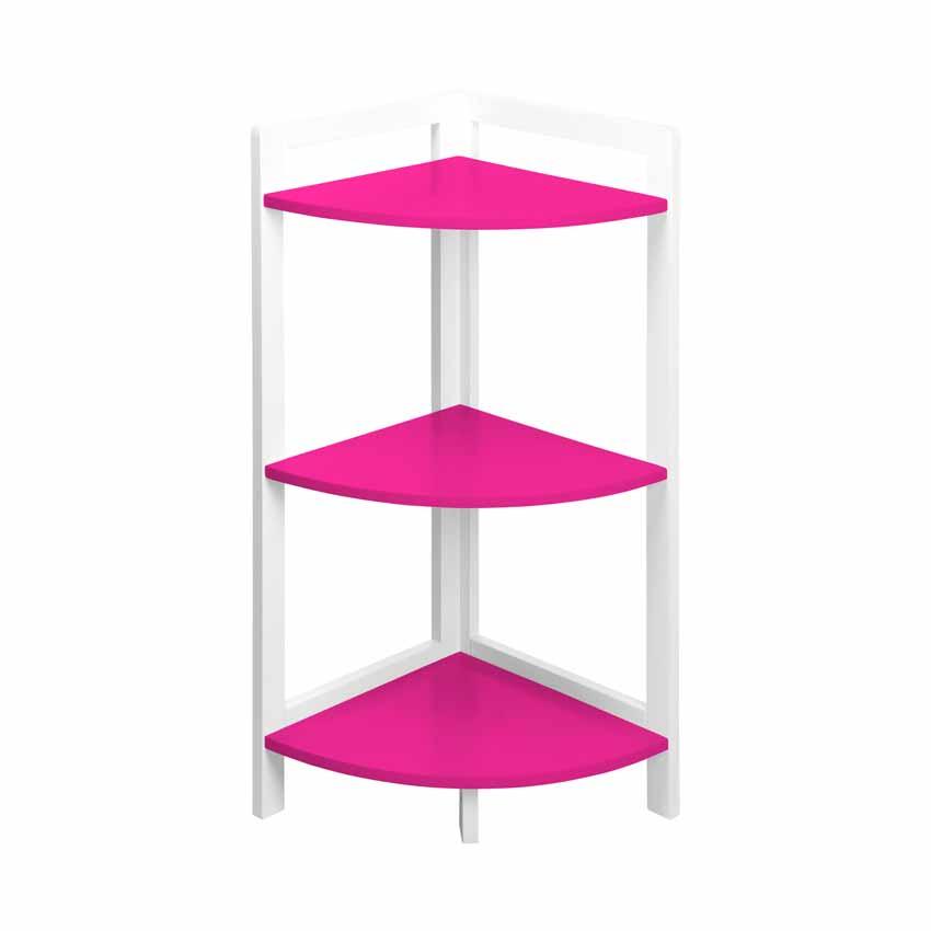meuble d 39 angle 3 tag res fuschia meuble bas eminza. Black Bedroom Furniture Sets. Home Design Ideas