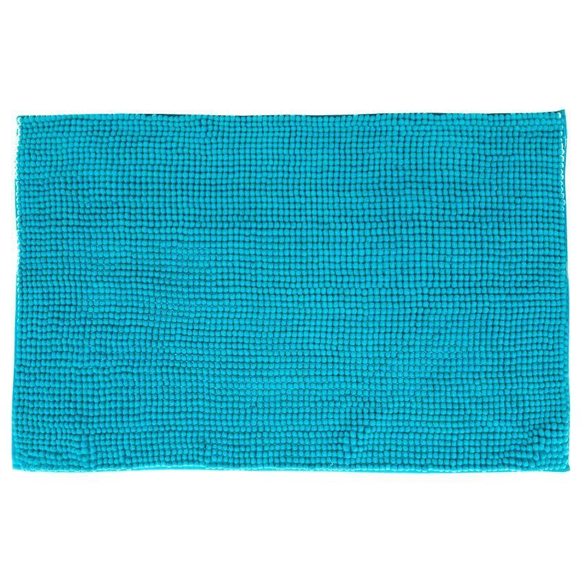 tapis de bain chenille turquoise tapis salle de bain eminza. Black Bedroom Furniture Sets. Home Design Ideas