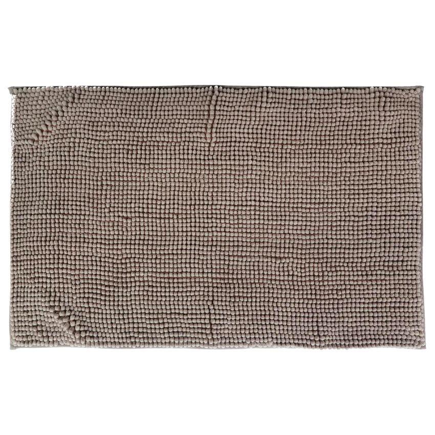 tapis de bain chenille taupe tapis salle de bain eminza. Black Bedroom Furniture Sets. Home Design Ideas