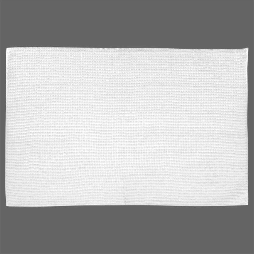 tapis de bain chenille blanc tapis salle de bain eminza. Black Bedroom Furniture Sets. Home Design Ideas