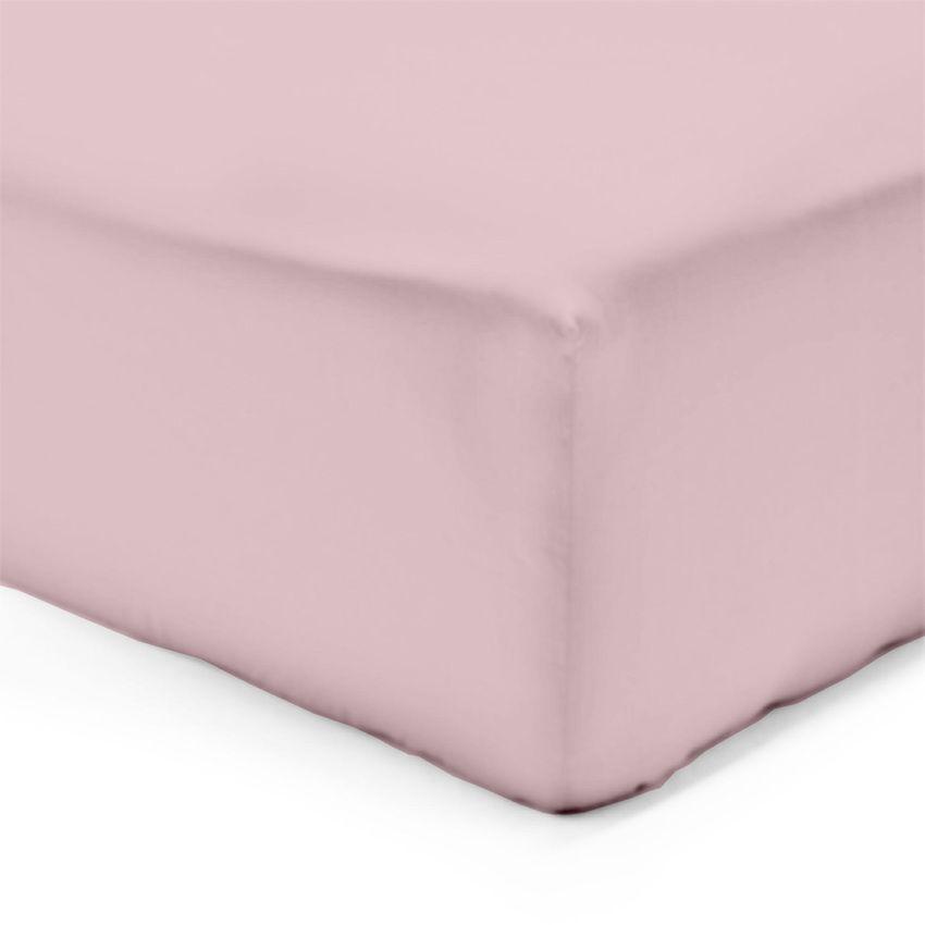 drap housse 200 cm lisa uni rose drap housse eminza. Black Bedroom Furniture Sets. Home Design Ideas