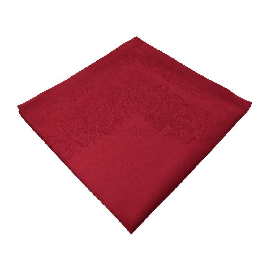 lot de 6 serviettes de table jacquard sensa rouge serviette de table eminza. Black Bedroom Furniture Sets. Home Design Ideas