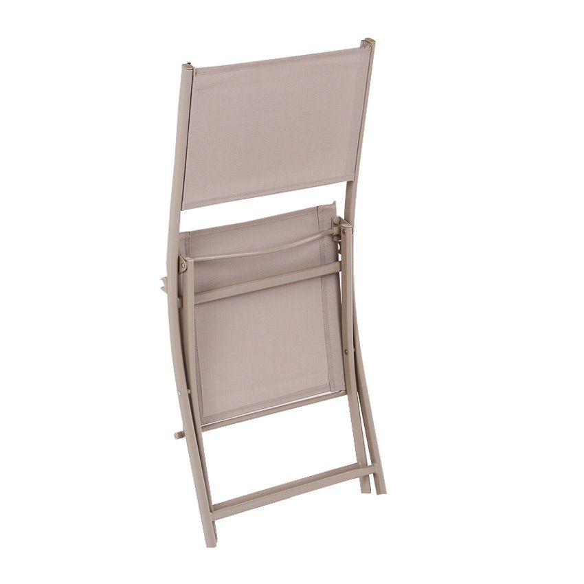 Lot De 2 Chaises De Jardin Pliantes Modula - Taupe - Chaise Et