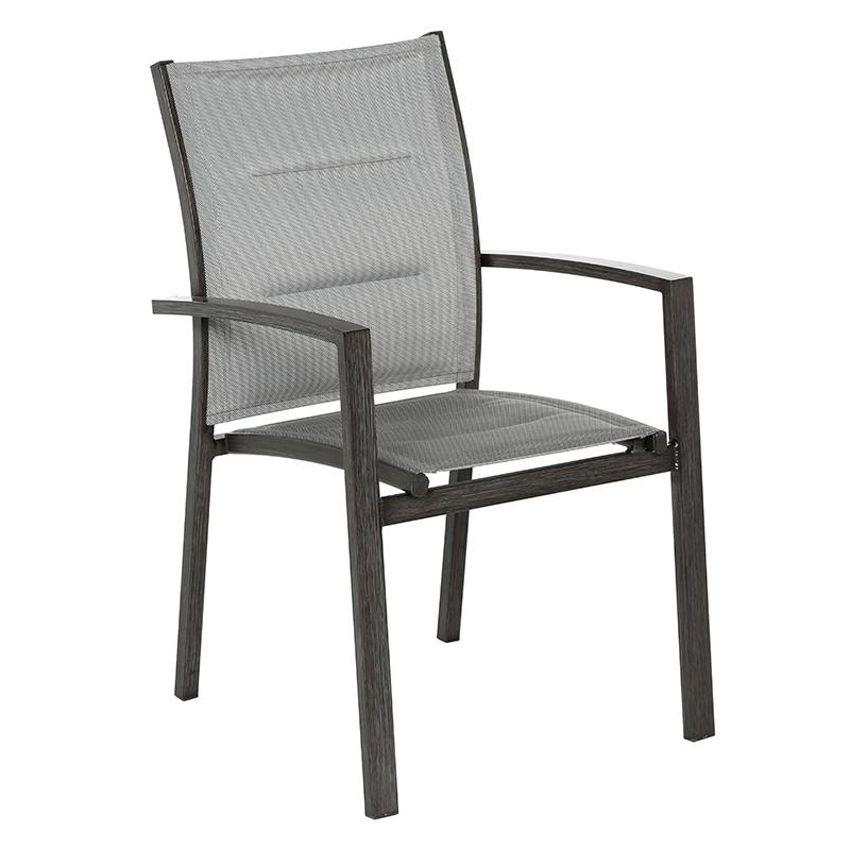 fauteuil de jardin empilable azua gris granit effet bois. Black Bedroom Furniture Sets. Home Design Ideas