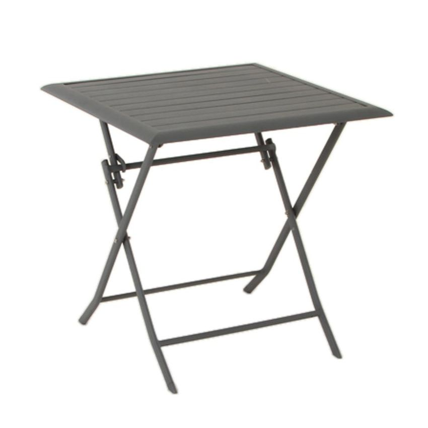 Table de jardin pliante aluminium azua 71 x 71 cm ardoise table de jardin eminza - Table pliante aluminium ...