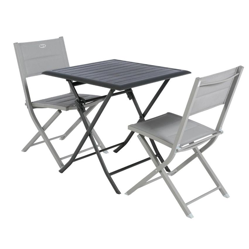 Table de jardin pliante aluminium azua 71 x 71 cm graphite table de jardin eminza - Table pliante aluminium ...