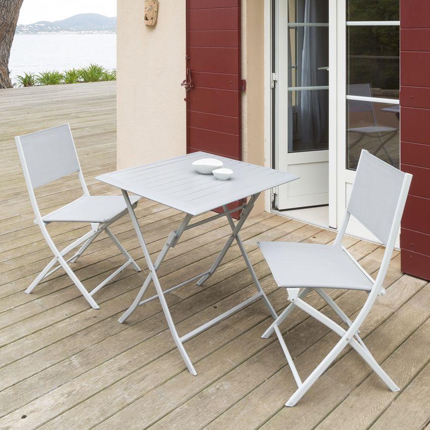 table de jardin pliante aluminium azua 71 x 71 cm silver mat table de jardin eminza. Black Bedroom Furniture Sets. Home Design Ideas