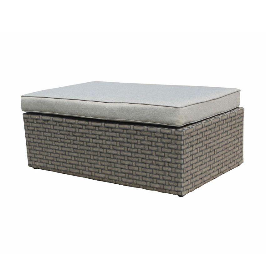pouf de jardin giannella moka gris clair salon de jardin eminza. Black Bedroom Furniture Sets. Home Design Ideas
