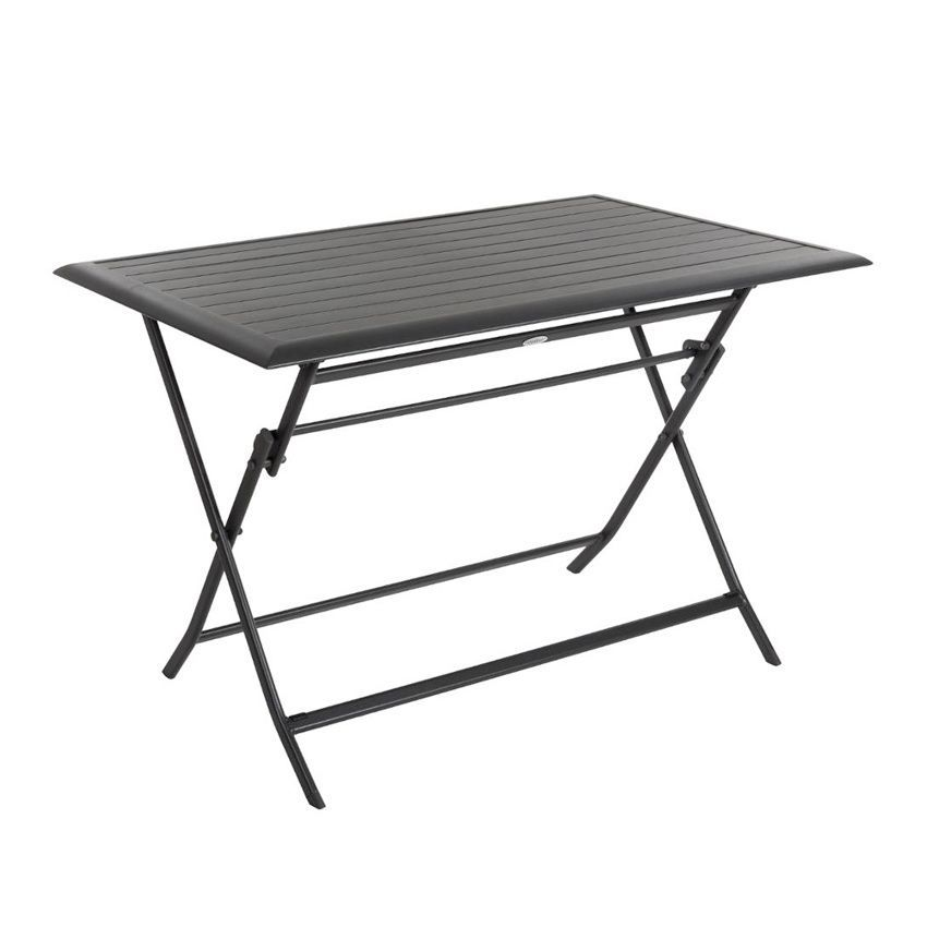 Table de jardin pliante aluminium azua 110 x 71 cm for Table jardin pliante