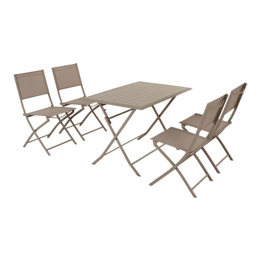 Table De Jardin Aluminium Taupe Des Id Es