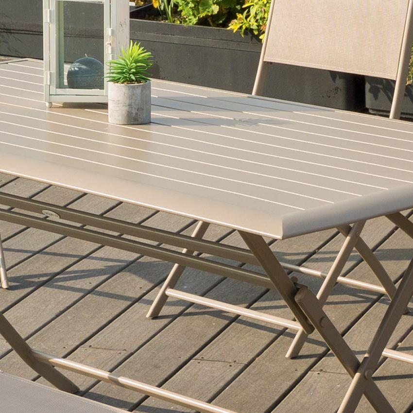 Table De Jardin Pliante Aluminium Azua 150 X 80 Cm