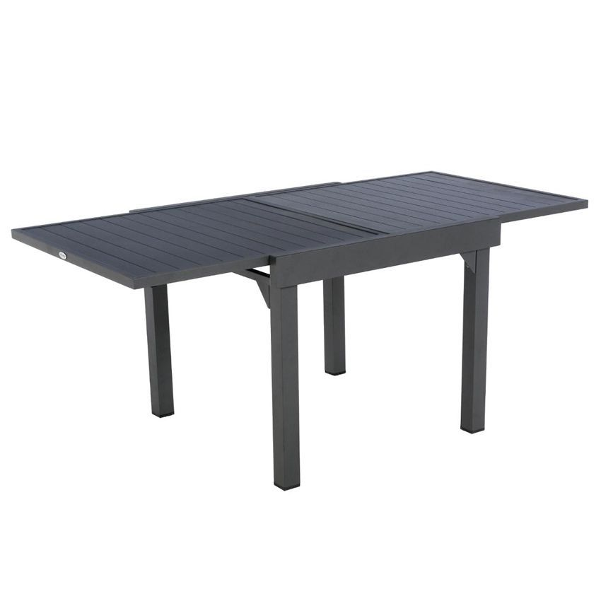Table de jardin extensible aluminium piazza 180 x 90 cm - Table de jardin extensible aluminium ...