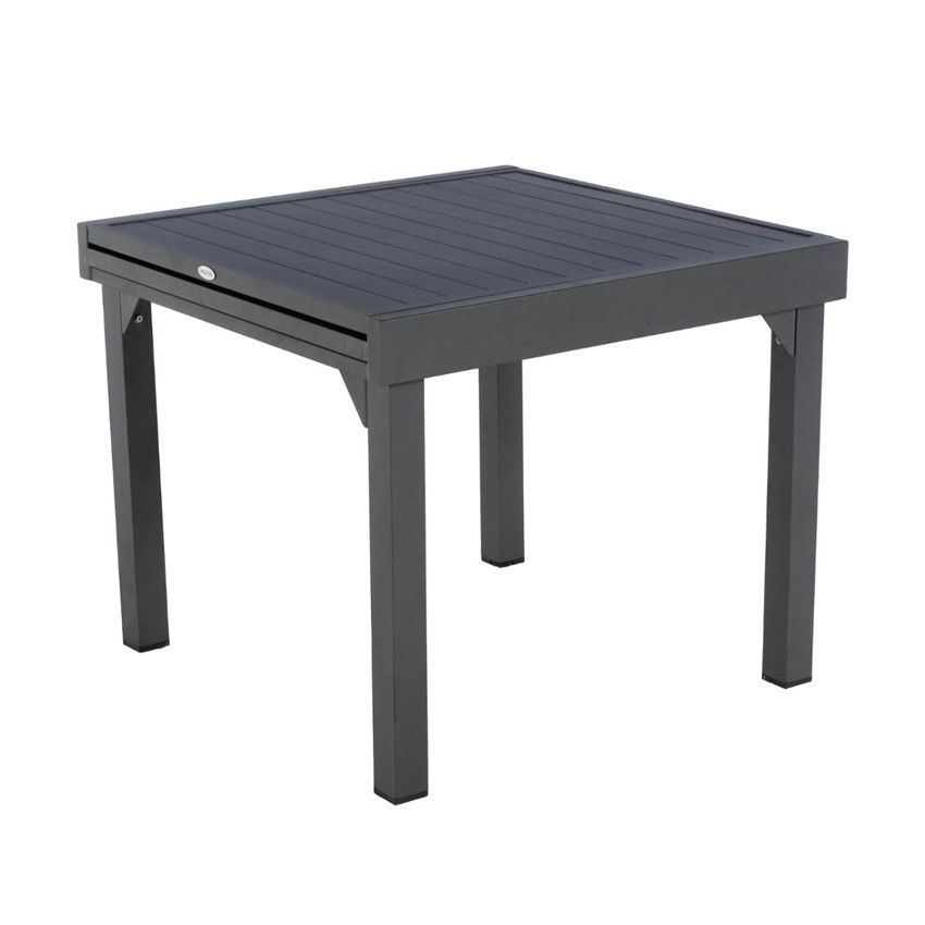 Table de jardin extensible aluminium piazza 180 x 90 cm graphite table de jardin eminza - Table de jardin aluminium ...