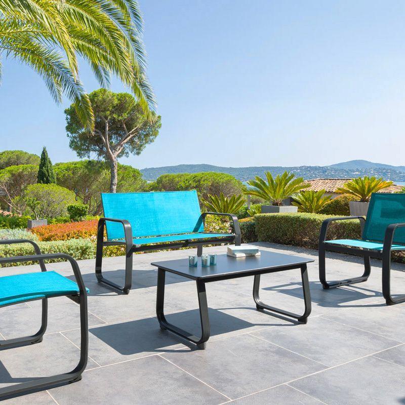 Salon de Jardin Gili Lagon - 4 places - Salon de jardin détente ...