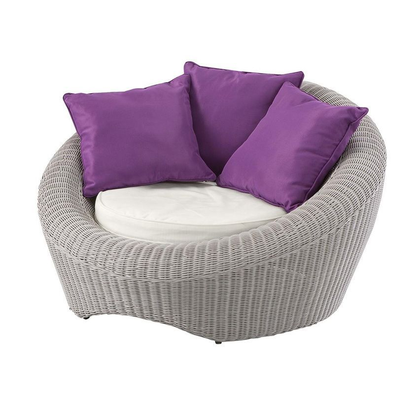 Fauteuil de jardin java gris clair violet salon de jardin d tente eminza - Fauteuil detente jardin ...