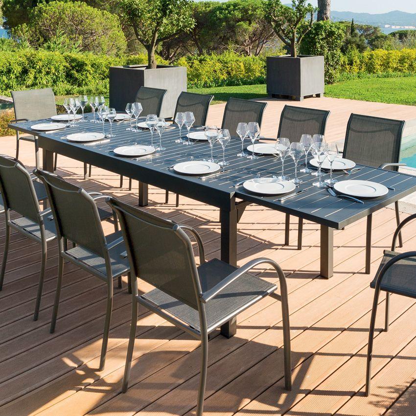 Stunning table de jardin extensible chaweng photos - Table de jardin aluminium ...