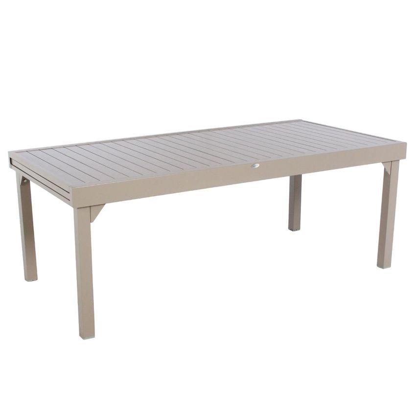 Table De Jardin Extensible Aluminium Piazza Max 300 Cm Taupe Table De Jardin Eminza