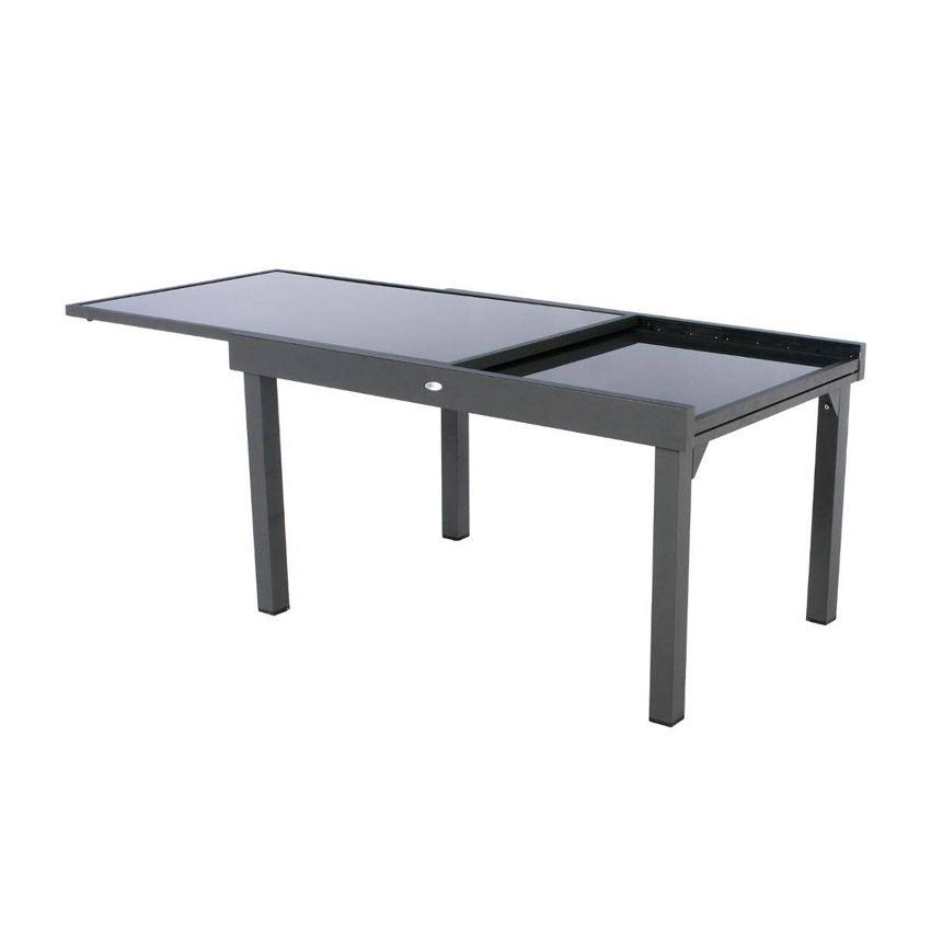 Salon de jardin piazza anthracite graphite 6 10 for Salon de jardin 10 personnes